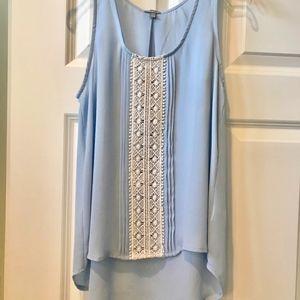 Charlotte Russe. powder blue tank top blouse
